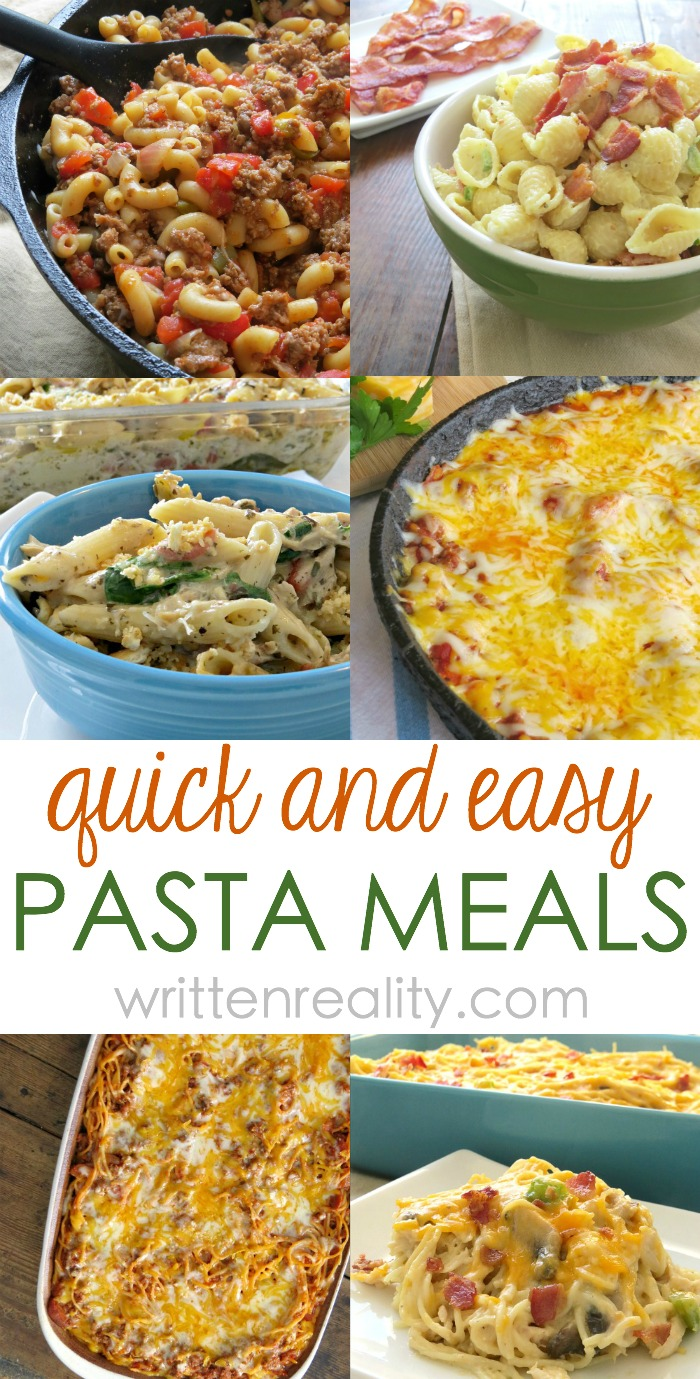Quick Easy Pasta Meals For Busy Weeknights Written Reality
