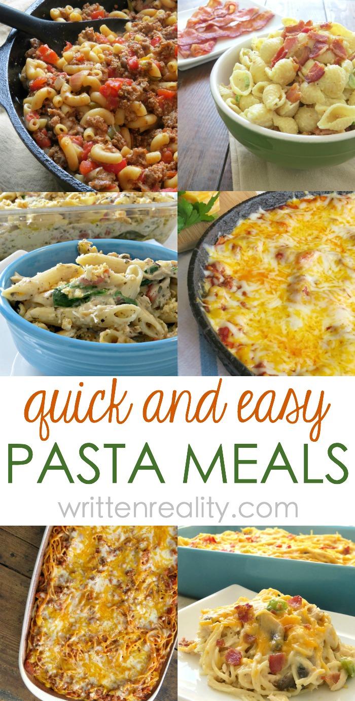 quick easy pasta meals
