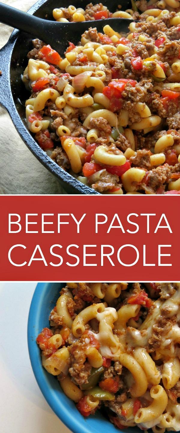 ground beef pasta casserole