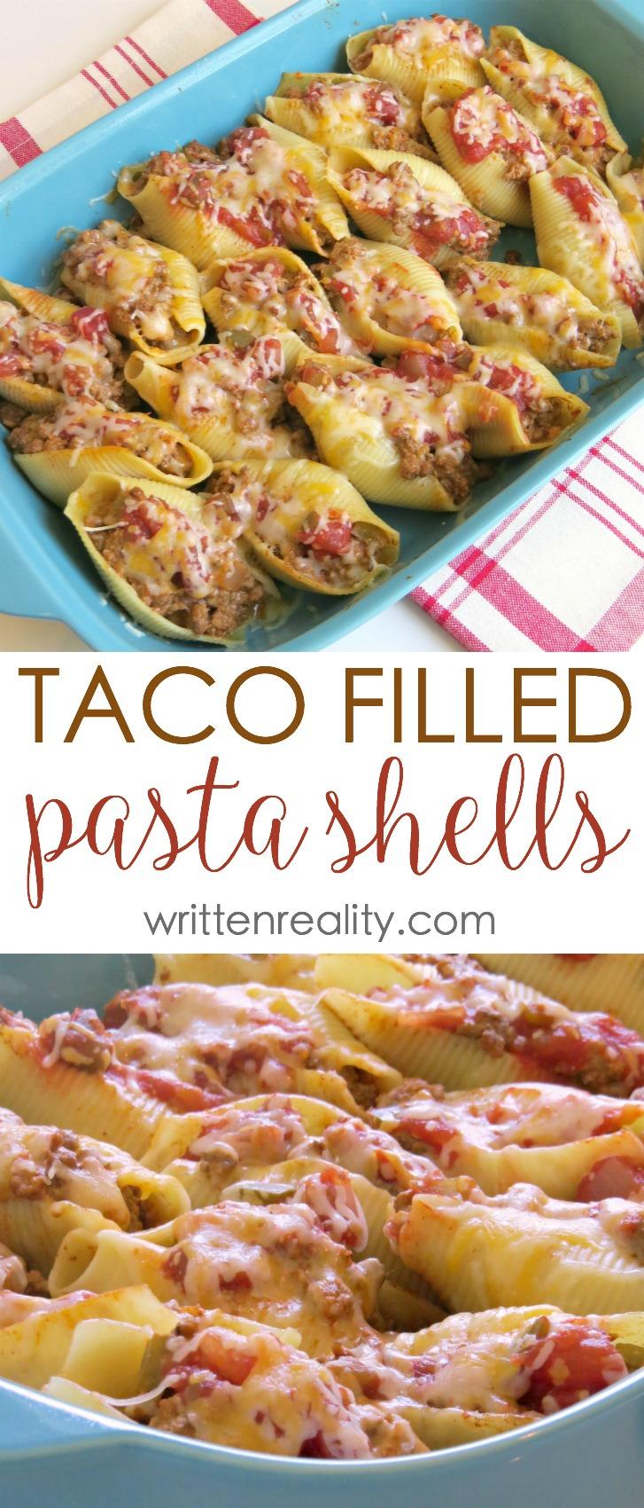 taco filled pasta shells recipe