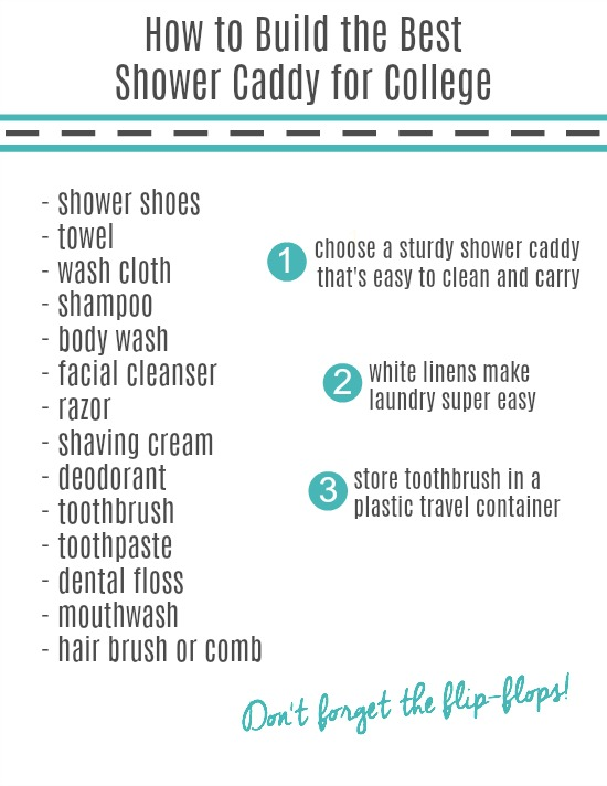 best shower caddy for college printable checklist