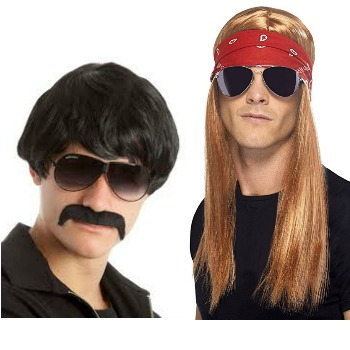 80s shag wig 90s rocker kit for more halloween costume ideas for teen boys