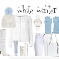 winter fashion women over 40 in white