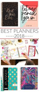 Best Planners 2018 to Get You Organized!