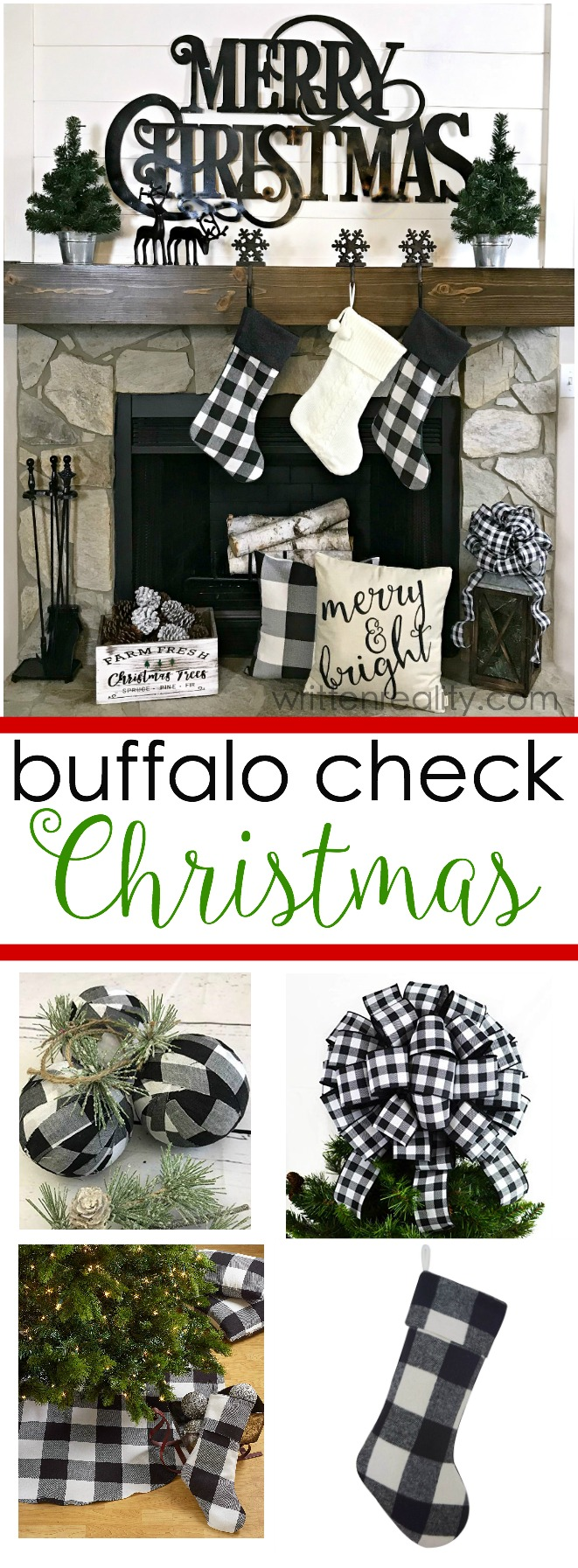 buffalo check christmas decorations