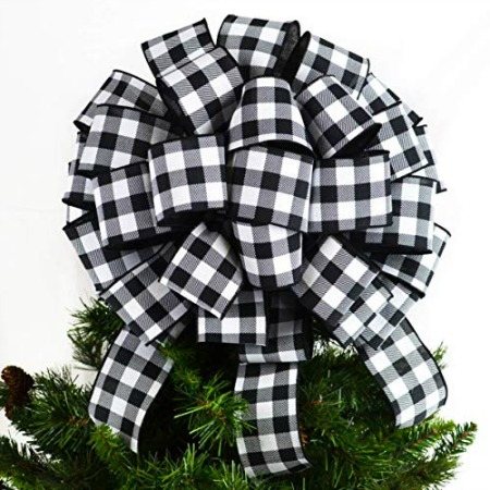 buffalo check tree topper
